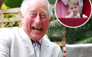 The Palace just revealed a hilarious unseen photo of Prince Charles doing the EXACT thing George now does