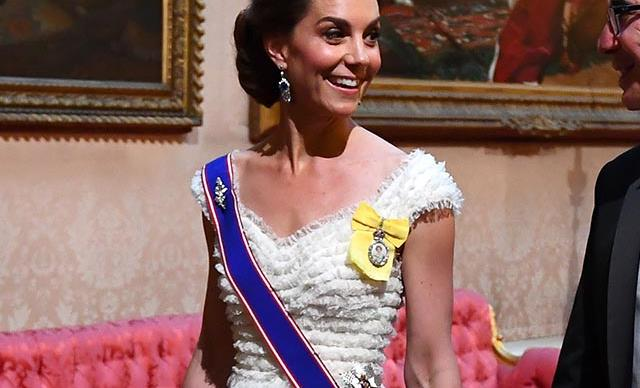 Duchess Catherine dazzles in her favourite tiara for glitzy state banquet with President Trump
