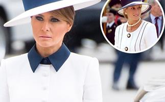 Melania Trump's unexpected twinning moment with Princess Diana begs a serious question