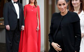 Did Melania Trump just make a subtle nod to Meghan Markle with her dress?