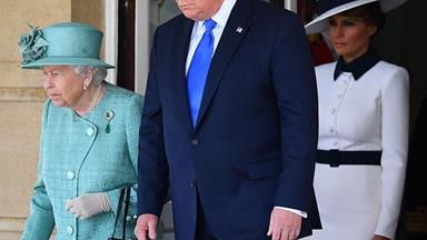 How the Queen's black handbag is sending a hidden signal during Trump's visit