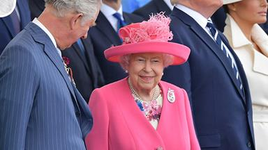 The Queen steps out in radiant pink with Donald Trump for 75th D-Day Anniversary
