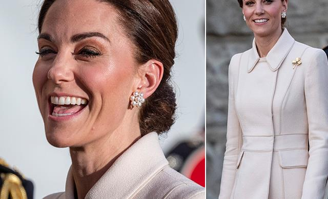 Duchess Catherine steps out in heavenly cream coat as she ticks off a royal first moment