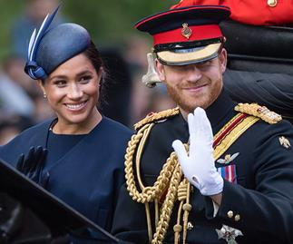 meghan markle prince harry trooping the colour