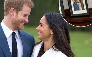 An unreleased photo of Prince Harry and Duchess Meghan is still on display at their former home
