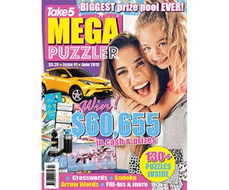 Take 5 Mega Puzzler Issue 41 Online Entry Coupon