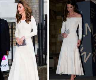 So nice she wore it twice! Kate Middleton recycles stunning white off-the-shoulder dress