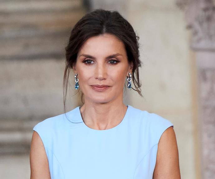 Queen Letizia of Spain stuns in blue dress alongside her gorgeous daughters