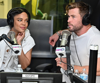 Chris Hemsworth's co-star is absolutely besotted with him and who could blame her?