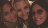 The one where Friends' Lisa Kudrow, Jennifer Aniston and Courteney Cox had an ACTUAL girls night