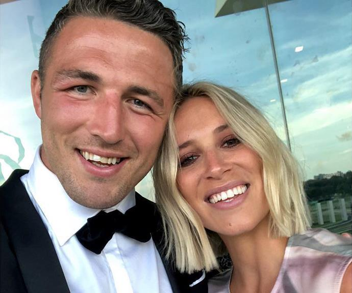 Phoebe Burgess (pictured with ex-husband Sam) was among those congratulating Karl on the announcement