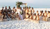 This bride had 34 bridesmaids at her wedding - and wishes she had 50!