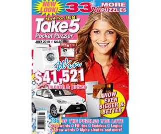 Take 5 Pocket Puzzler Issue 179 Online Entry Coupon