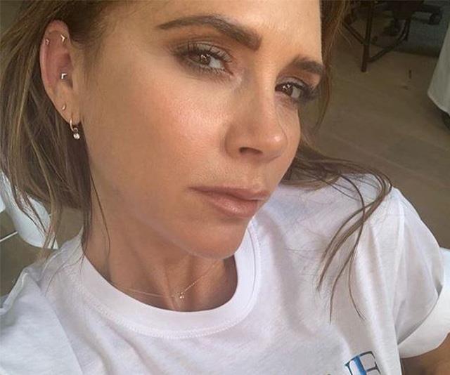 Victoria Beckham's new t-shirt reveals a heartfelt plea in her latest candid selfie