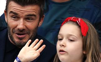 New pictures of Harper Beckham proves she's EXACTLY like her dad - and not in the way you'd expect