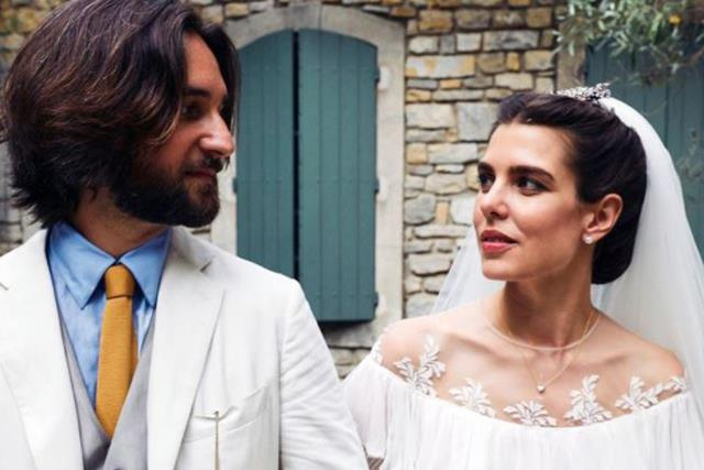 Another royal wedding! New photos from Monaco's Charlotte Casiraghi's second nuptials released