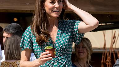 Duchess Catherine dazzles in green as her garden installation moves to Hampton Court