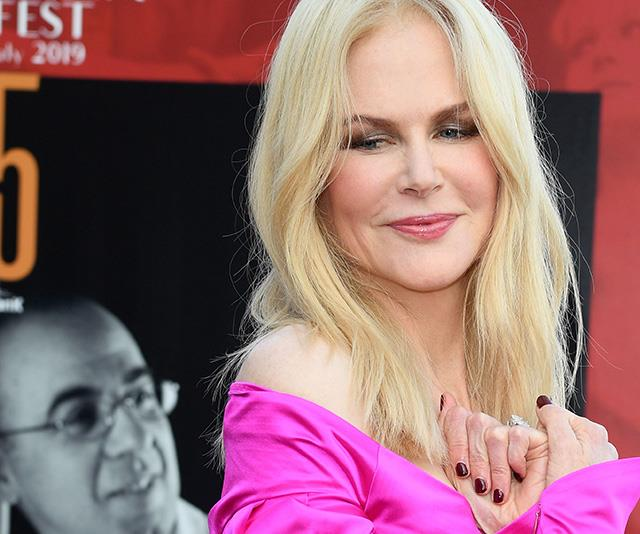 Nicole Kidman makes a daring fashion statement in shock pink dress