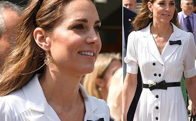 Wimbledon wonder! Duchess Catherine stuns in white at day two of the Wimbledon Championships