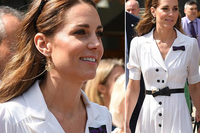 Wimbledon wonder! Duchess Catherine stuns in white at day two of the Wimbledon Championships