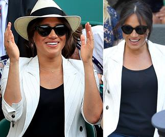 Here she is! Duchess Meghan makes glorious appearance at Wimbledon as she breaks from maternity leave