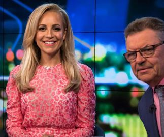 New mum Carrie Bickmore returns to The Project in style