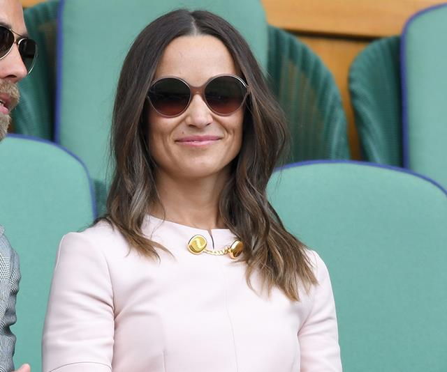 Pretty in pink! Pippa Middleton shines at Wimbledon with her handsome brother James