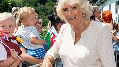 Camilla, Duchess of Cornwall makes a dazzling fashion statement in unexpected retro print dress