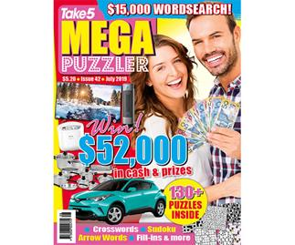 Take 5 Mega Puzzler Issue 42 Online Entry Coupon