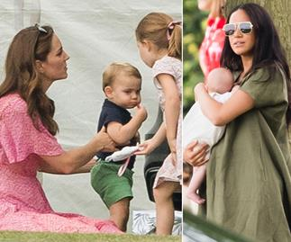 A right royal play date! Meghan and Kate unite with their families at the polo - see all the amazing pics