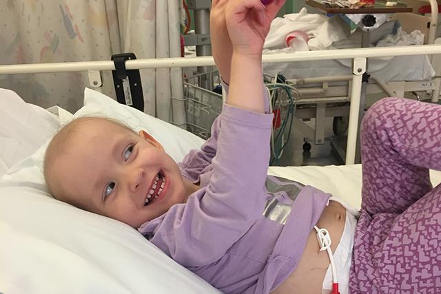 Real life: Meet the brave two-year-old who lost her kidney to cancer