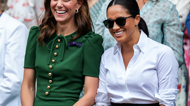 Meghan and Kate put on a grand slam stunner as they attend the Wimbledon women's final
