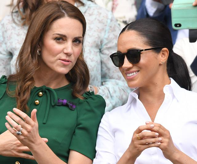 The unseen hand gesture Kate Middleton made to Meghan that's put all those feud rumours to bed