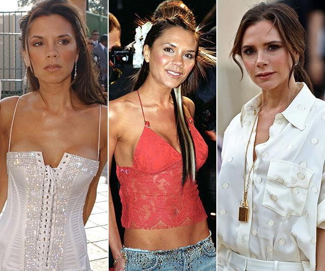 Posh and oh heck! Victoria Beckham's epic style transformation is a feast for the eyes