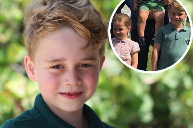 Unseen photo of George, Charlotte and Louis emerges, and they're pictured with a special guest