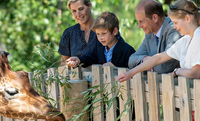 Prince Edward and Countess Sophie of Wessex make a rare royal appearance as a family at the zoo