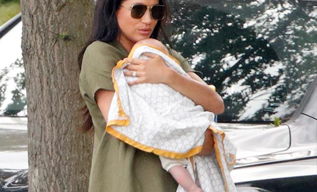 The sweet truth behind Archie's first official outing at the polo