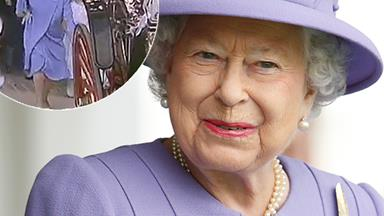 Viral video shows rare footage of the Queen running for a very sweet reason