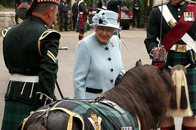 The Queen was reunited with a very cheeky horse at Balmoral Castle