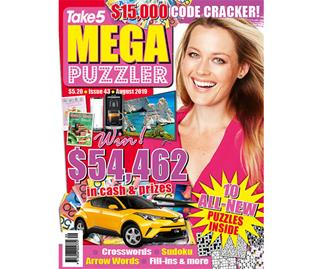 Take 5 Mega Puzzler Issue 43 Online Entry Coupon