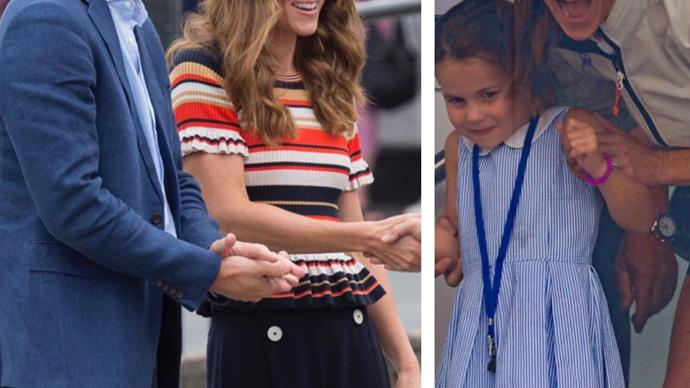 They're back! Kate and Wills break from holiday by bringing the kids to Kings Cup Regatta - see the pics