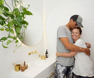 From unfinished tiling to Hollywood glamour: Inside The Block's guest ensuite room reveals