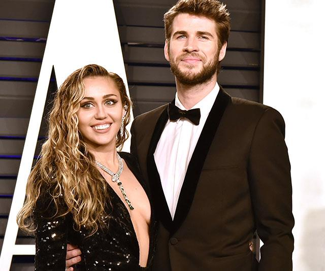 Miley and Liam in happier times. *Photo: Getty*