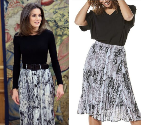 We found a $25 copy of Queen Letizia's stunning on-trend outfit