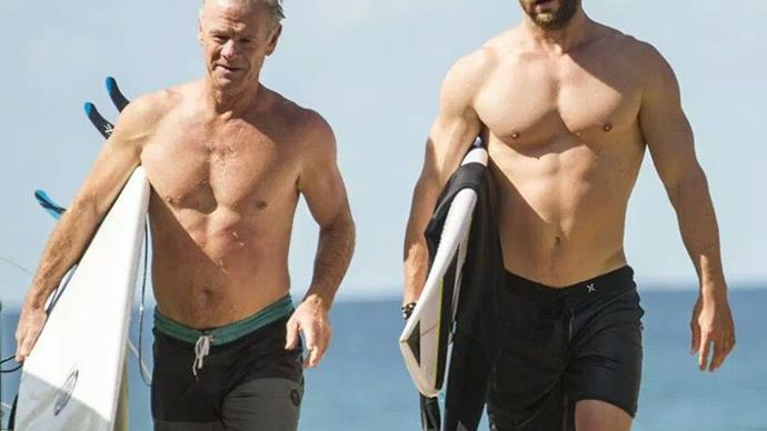 Um, so Chris and Liam Hemsworth's dad is actually super hot