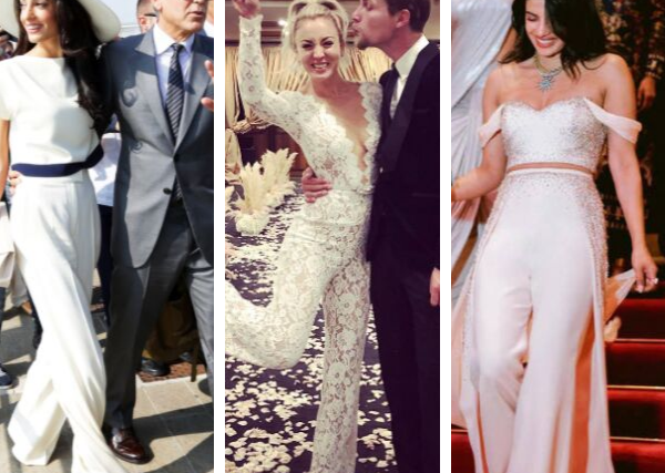 The bride wore the pants! Celebrities who shunned the big white dress on their wedding day