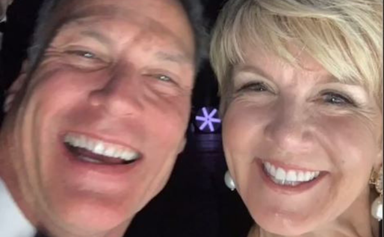 The hilarious story behind Julie Bishop's cheeky selfie with her handsome partner
