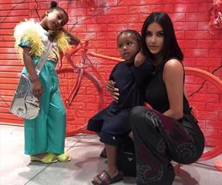 Kim Kardashian's latest photos of her kids reveal their sassy side