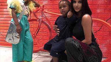 Kim Kardashian's latest photos of her kids reveal their sassy side