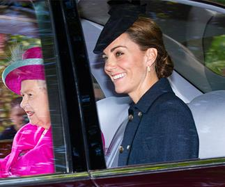 Duchess Catherine dazzles in blue as she attends church with the Queen in Balmoral